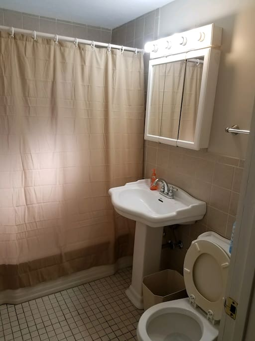 Bathroom with newly finished tub