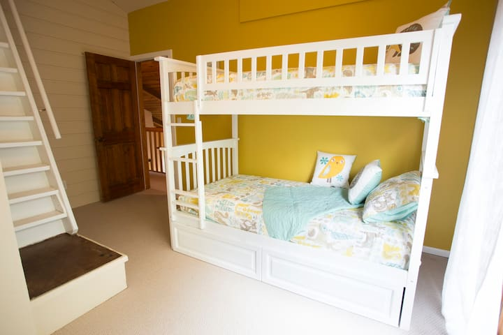 The kids will love hanging out in their bunk room