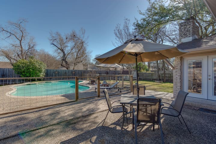 Beat the Texas heat under the umbrella, or with a quick dip in the pool...