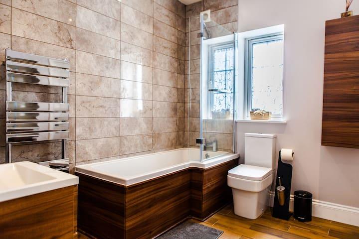 Your spacious bathroom suite