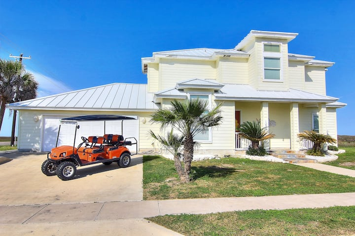 Just Breathe:Golf Cart Included, Boardwalk to Beach, Shared Pool, Ocean Views