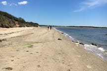 The beach at Pocomo is just a short walk away