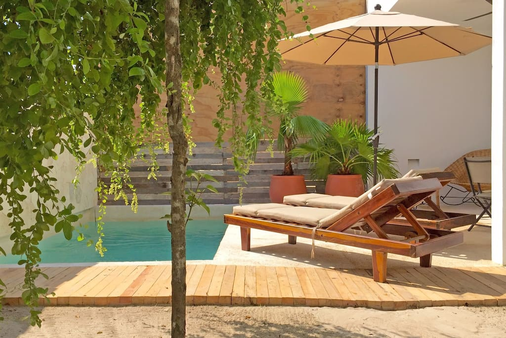 private garden and terrace with plunge pool