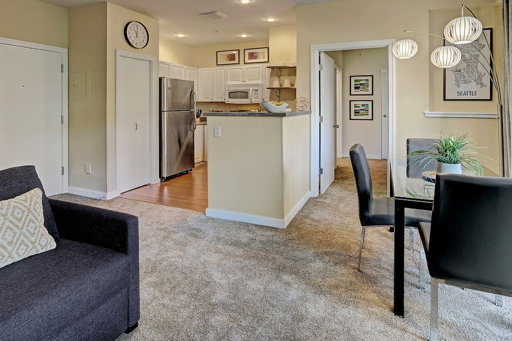 The open floor plan allows you to visit with ease.