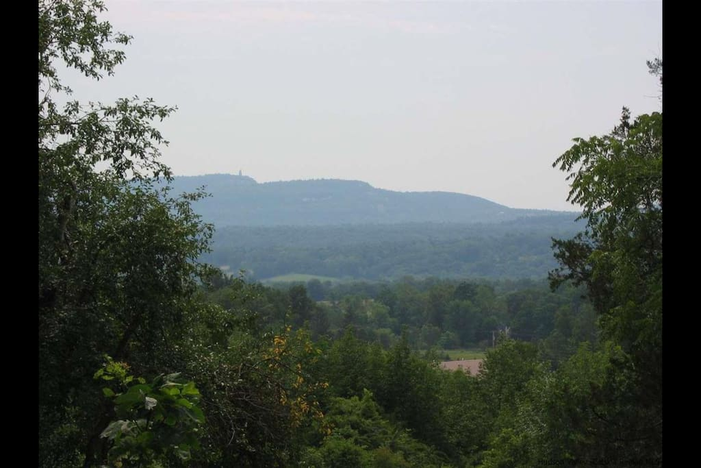 View of Mohonk Preserve and the famous Minnewaska Skytop Tower, from the back deck