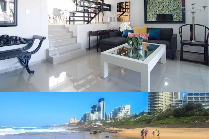 Umhlanga Beach 5 bed Aircon Pool WiFi Dstv Netflix