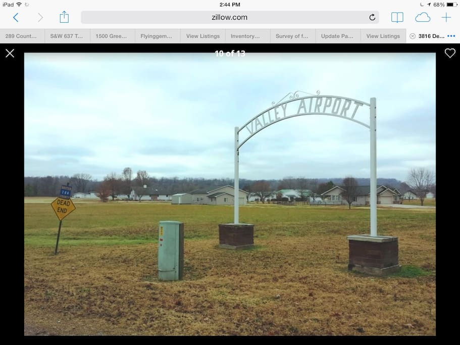 THE VALLEY AIRPORT.  COTTER,  ARKANSAS