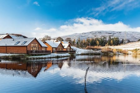 Beautiful Elk Lodge, Enchanted Forrest, Pitlochry