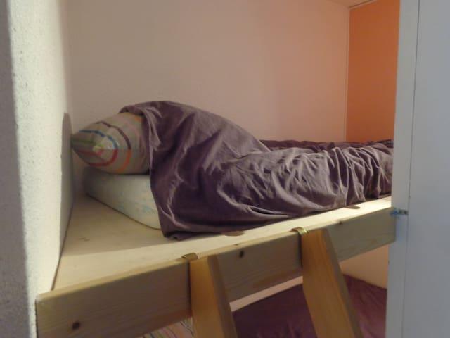 Alcôve lit du haut matelas 90x190