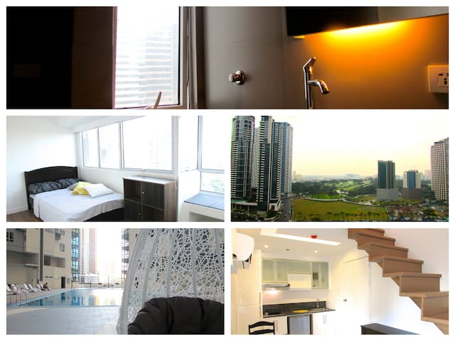 Modern w/Perfect View Loft! 2BR in Central BGC  ;) - Taguig - Loft