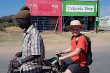 Local bicycle taxis is the main mean of transport to Monkey Bay town