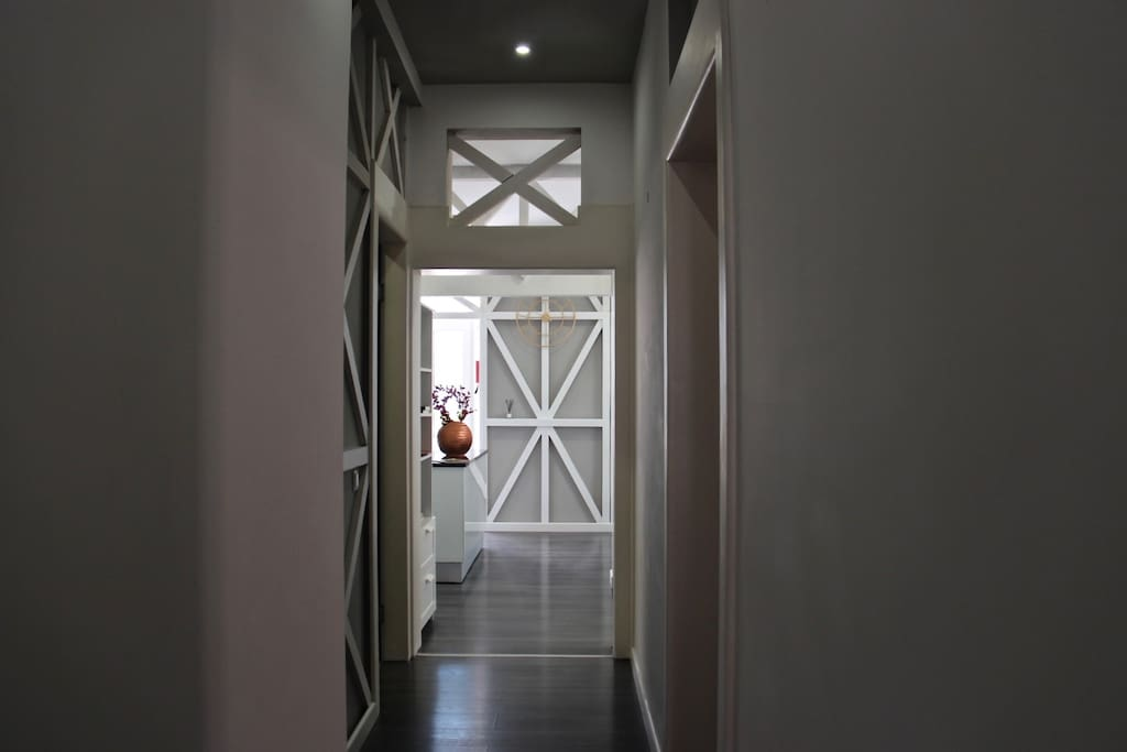 Hallway with glimpse of the open space