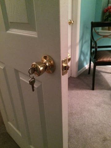 Keyed entry to guest room