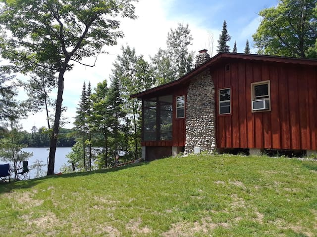 The Red Door Cabin on Sand Lake