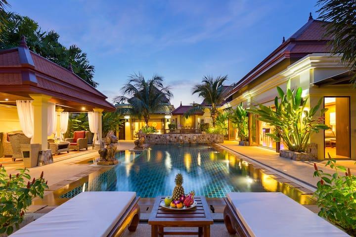 Extraordinary courtyard villa, 6 bedrooms, Naiharn