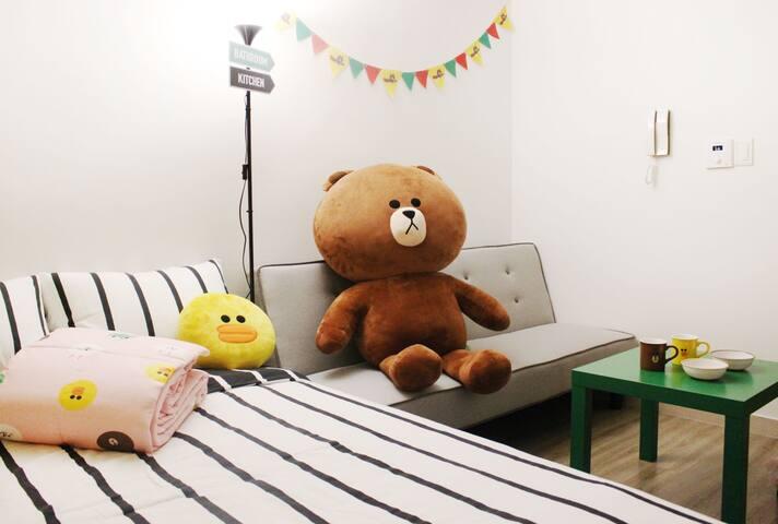 #3Stay with Brown! Dongdaemun-gu 东大门 - Dongdaemun-gu - Lägenhet