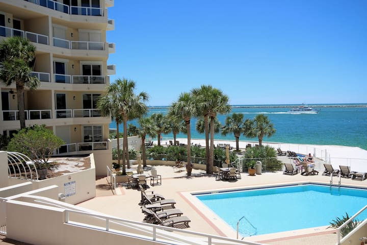 Dolphin View-East Pass Towers -  Beach & Harbor!!