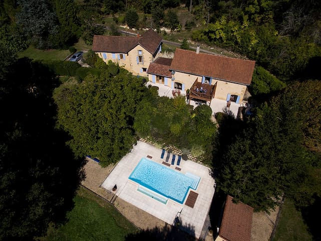 Dordogne House, heated pool,6 acres - Saint-André-d'Allas - Hus