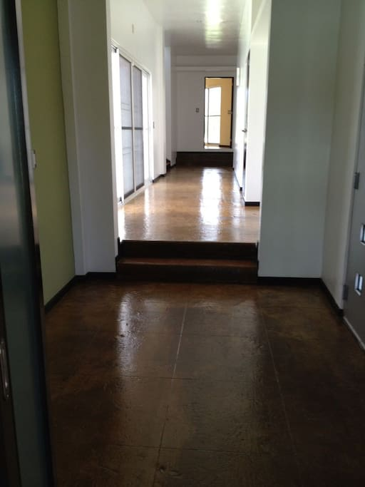 pasillo de acceso a los dormitorios