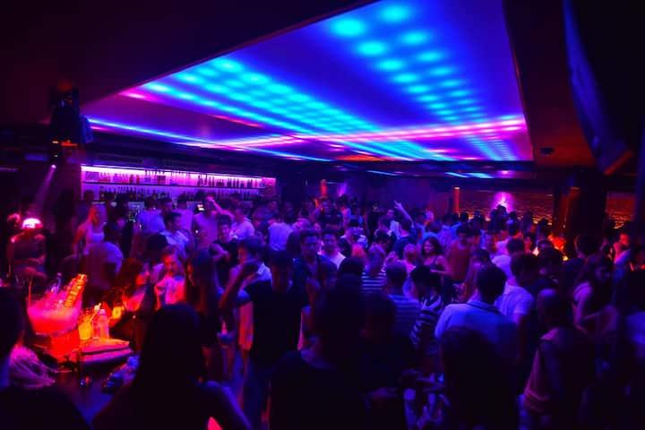 Underground night club