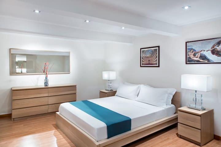 Ammezzato matrimoniale 18 mq.  -  18 sqm. mezzanine with double bed