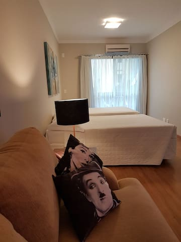 Sala de estar - vista para as camas