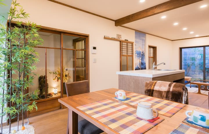 Your Pavilion near Kinkakuji-2BR house for 1 group