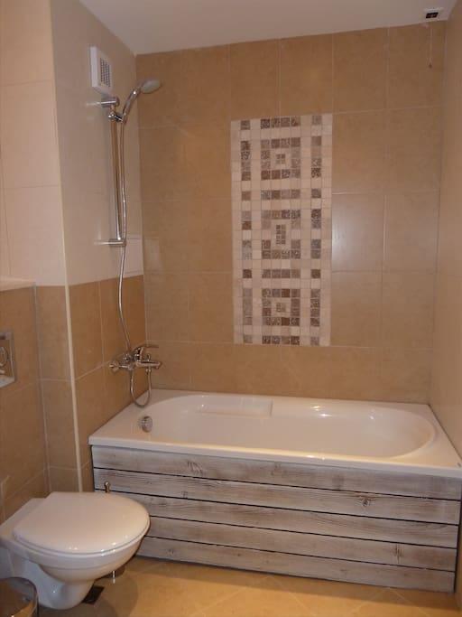 Bathroom 1 including bath and shower