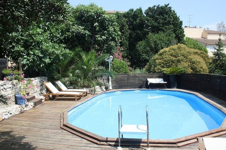 Rez-de-jardin avec piscine au Cannet proche Cannes