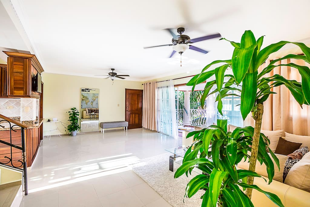 A large living room on the first level. This is our starting point. This is the place where you will enter in your luxury, private vacation. Enough space for everyone, fresh breeze and amazing views from your balcony. It will make you feel comfortable and independent.