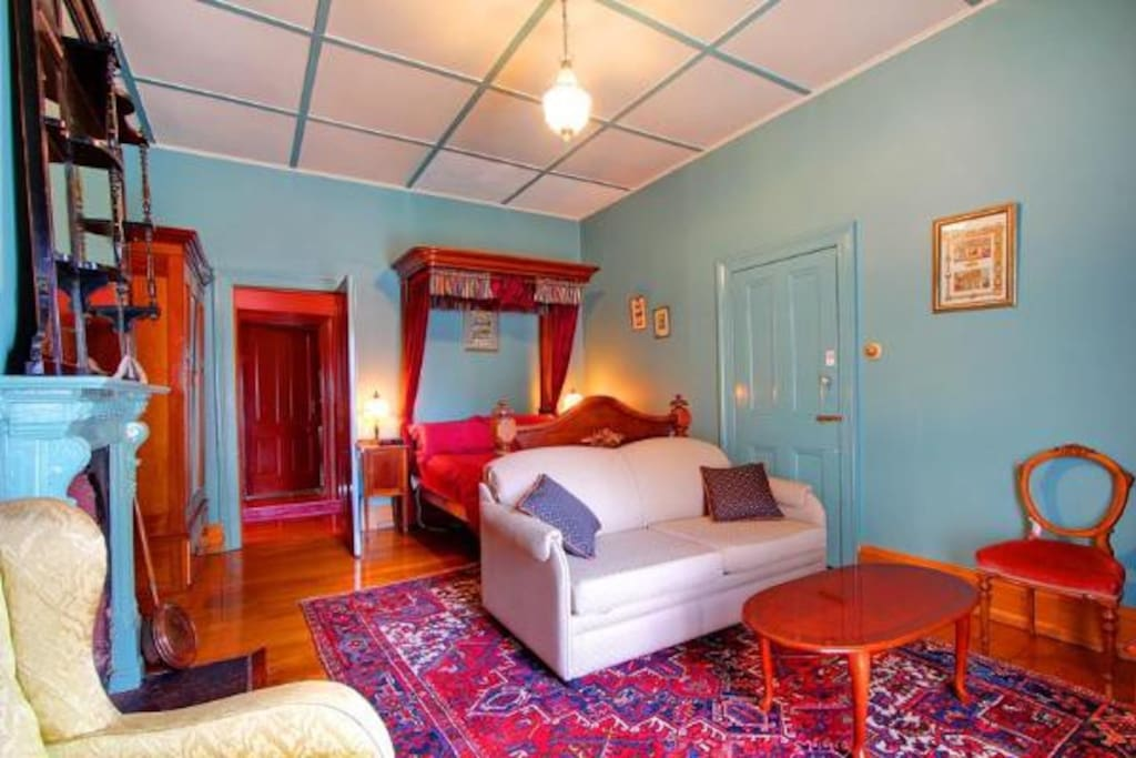 The bedroom (undergoing renovation including painting and updated furniture, to be completed Late September 2017. See our other rooms for an indication of styling)