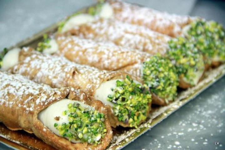 tipical sicilian cannoli for breakfast