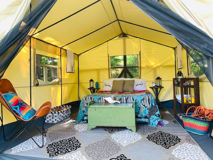 Private Luxury Waterfront Camping