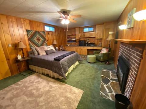 Warm, cozy, private room & bath,  fireplace+more!