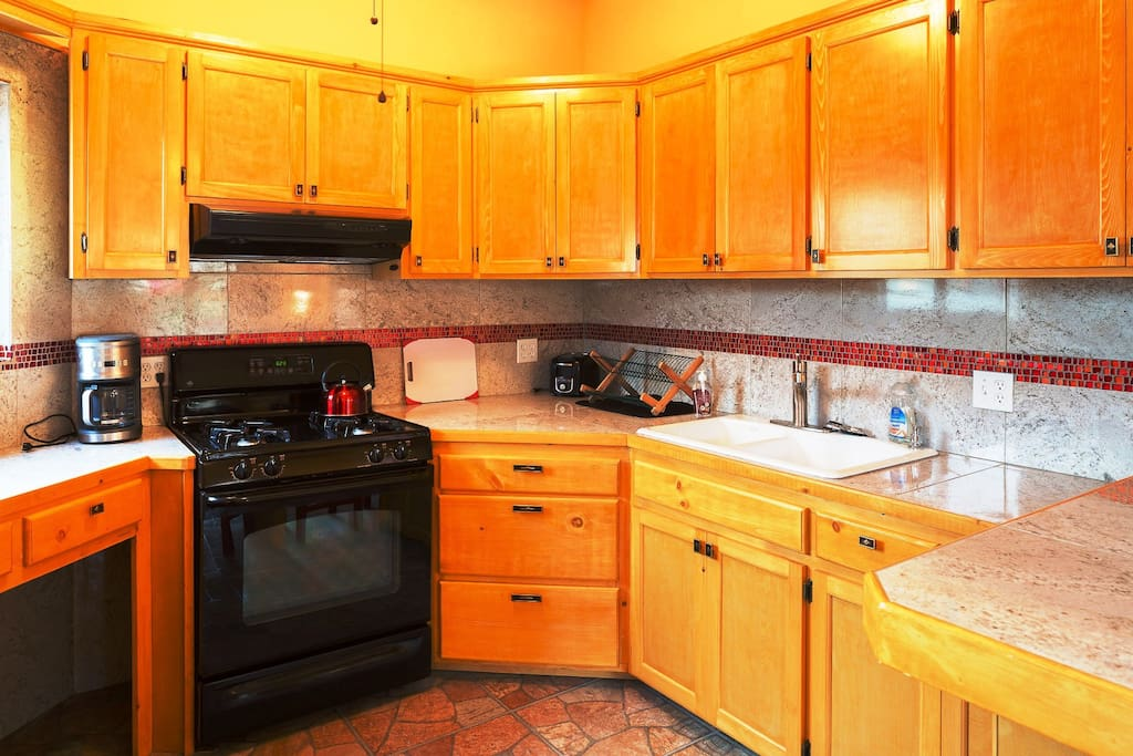 Large kitchen with lots of cabinet and counter space