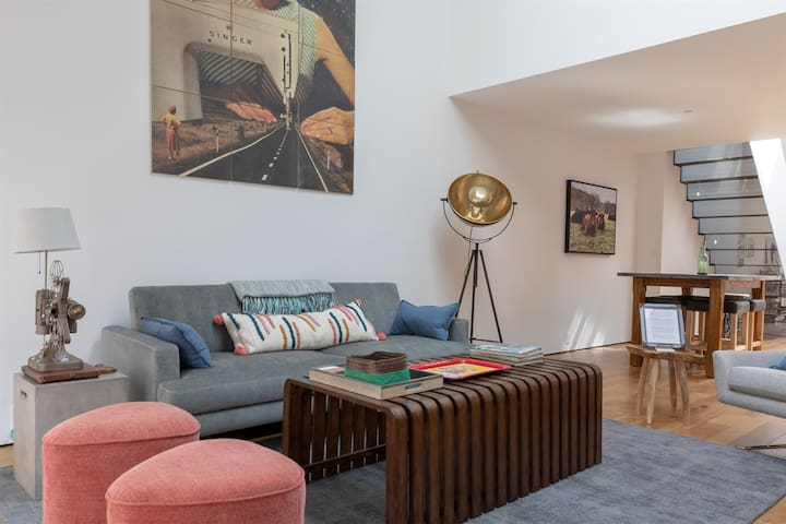 The Wood Company Loft | Fully renovated modern apartment overlooking the Downtown Mall
