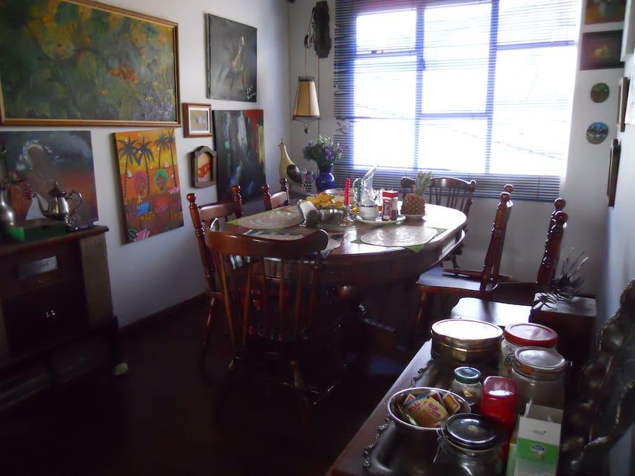 el comedor  de la casa