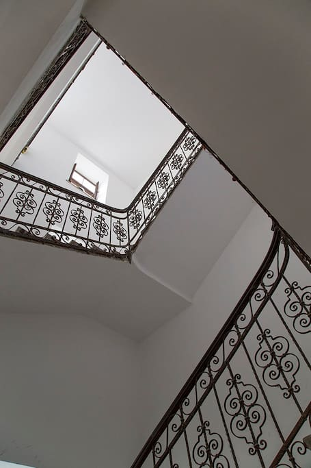 The staircase of the house.
