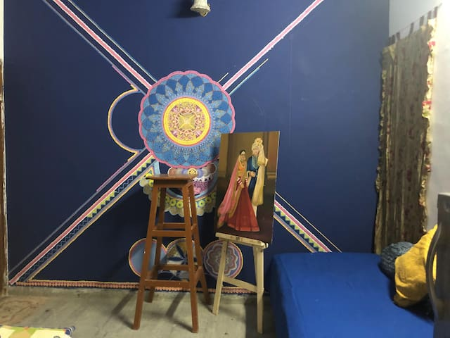 Deepika's art studio space for an artistic stay