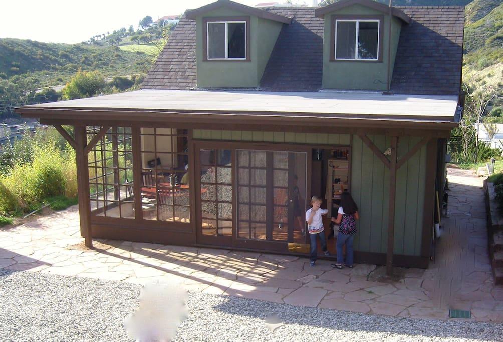 Kids having fun outside