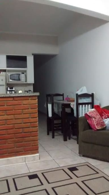 Foto sala e cozinha