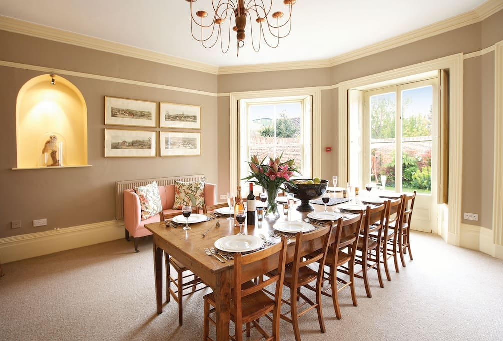 Ground floor: Dining room with french doors onto the garden