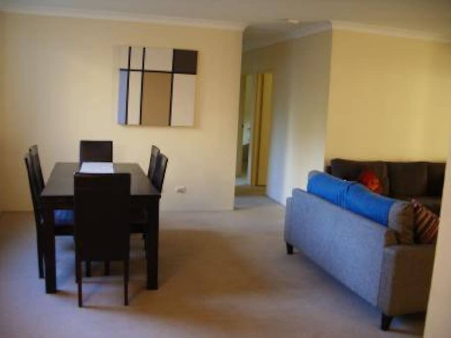 The living/dining room