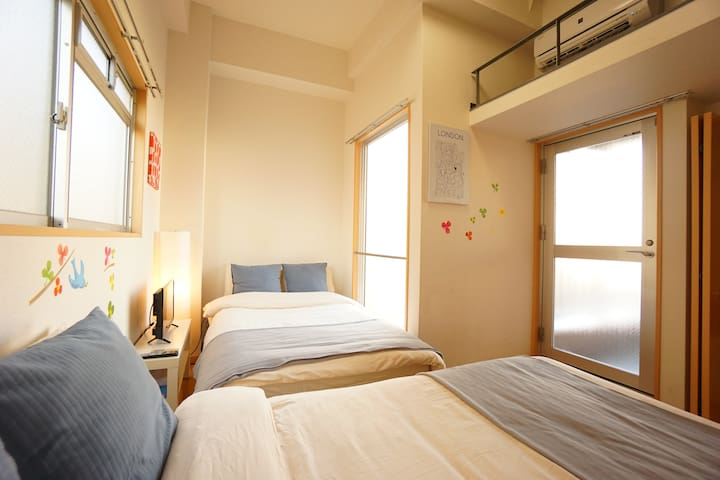 1min Namba by subway/Clean Room/Free wifi