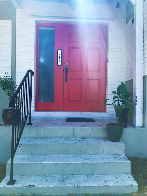 entrance way to home just through the red door.