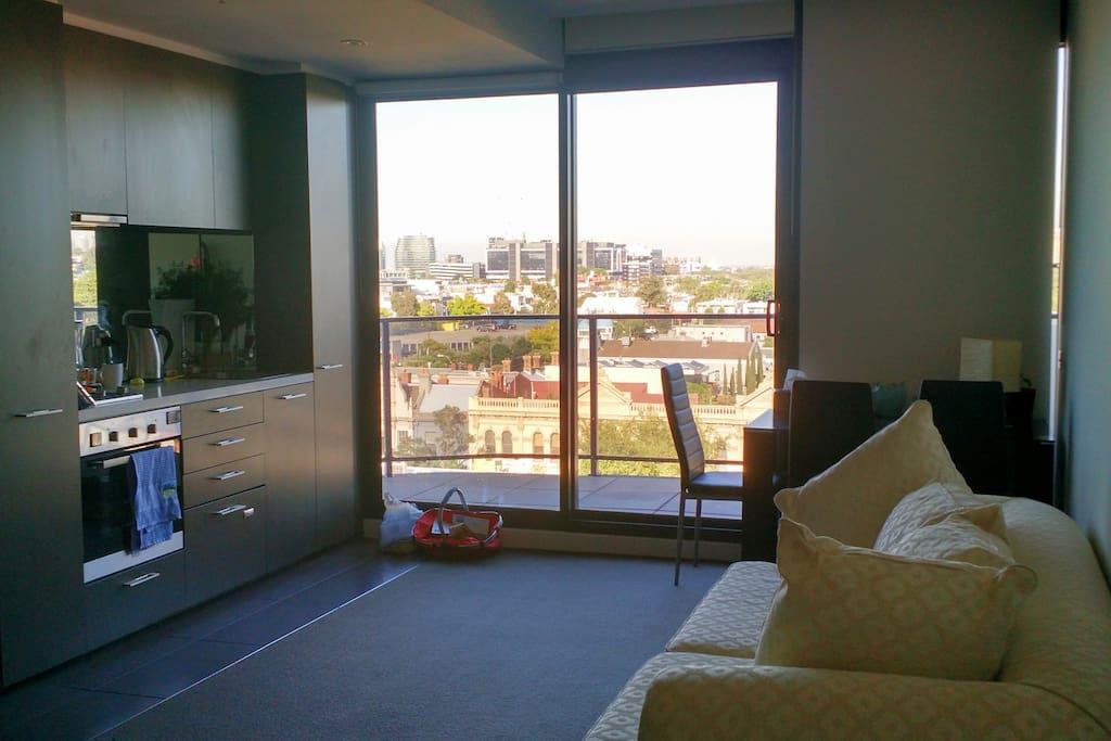 The studio apartment