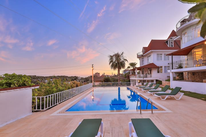 3House  Apart, 1+1 Flat with Seaview & Pool
