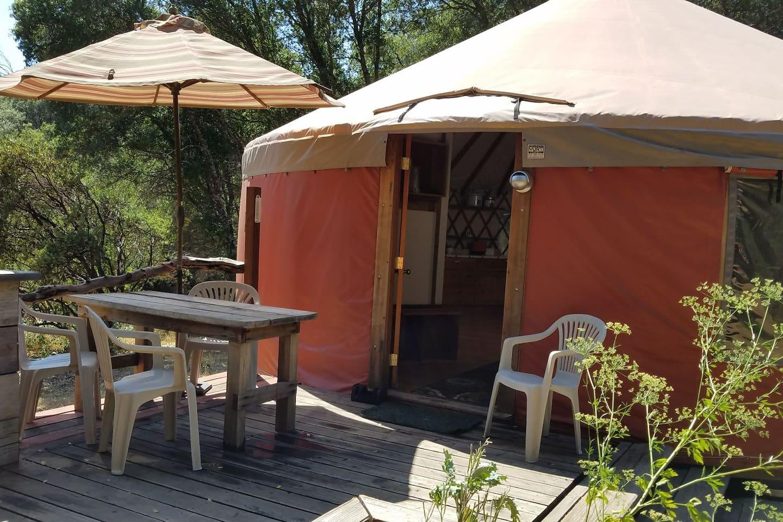the yurt at snow creek yurts for rent in mariposa california