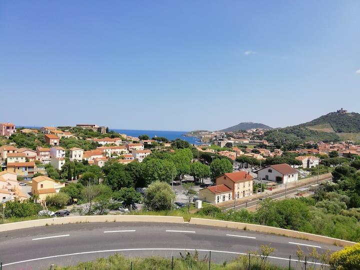 Collioure : 3 pièces  avec vue clim parking & wifi