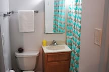 Bathroom with extra closet space if needed
